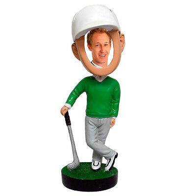 Golfer Picture Photo Frame Bobblehead Doll