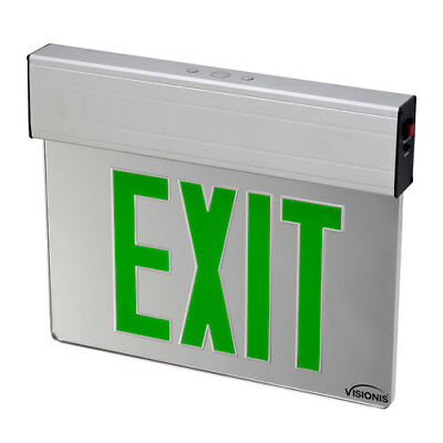 Visionis VIS-ESGGL - Acrylic Face Green Exit Sign Light LED - 6 Inch - UL924