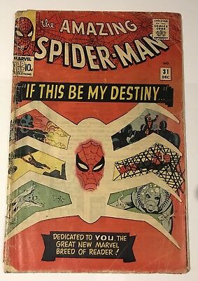 Marvel Amazing Spiderman #31 - 1st appearance Gwen Stacy