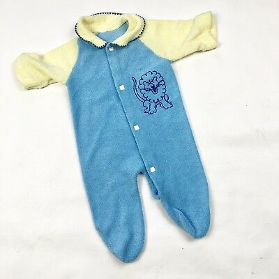 Vintage Baby Towel Terry One Piece Footie Pajama Newborn 3M