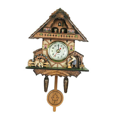 Wooden Cuckoo Clock Decorative Wall Clock with Quartz Movement Gift H