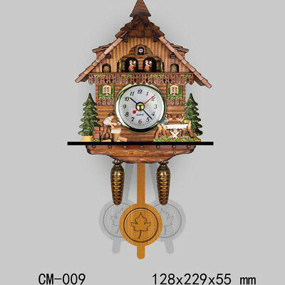 Wooden Cuckoo Clock Decorative Wall Clock with Quartz Movement Gift I