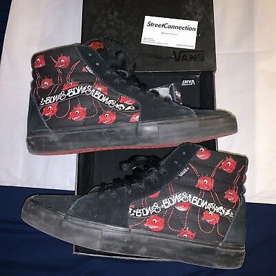 5bb063f30d0ef8 2007 WTAPS Devils Sk8-Hi Size 10.5 OG Box Black Red Supreme Vans Box Logo