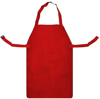 Red Leather Welders Blacksmith Safety Apron