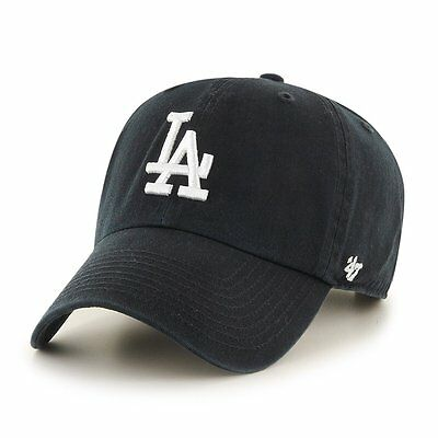 new style f0bd9 4b227 Los Angeles Dodgers  47 Brand Black Clean Up Adjustable Dad Hat