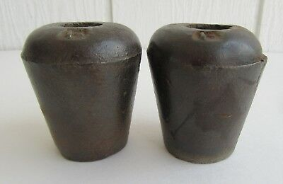 Antique Vintage YORK Cast Iron Horn Weights Bull Cow Cattle Set Two Pair Signed