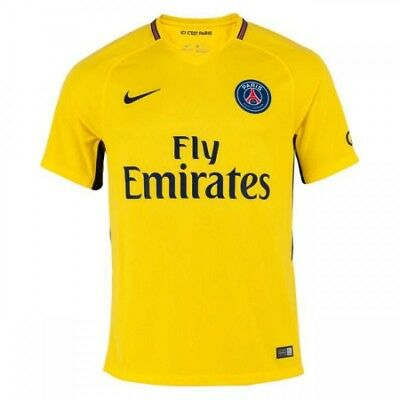 best service e6eb4 dd39a PSG JERSEY NIKE Away 2017 Yellow New W/ Tags Size S Small Football Shirt  Paris