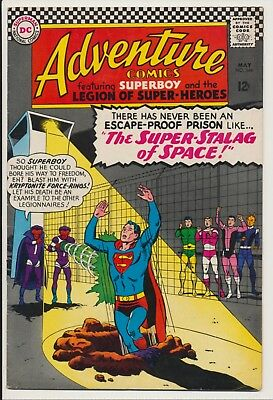Adventure Comics #344 DC 1966 Super-Stalag of Space, Superboy