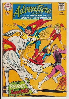 Adventure Comics #364 DC 1968 Super Pets app, Superboy, Legion