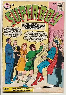 Superboy #104 DC Comics 1963 Phantom Zone
