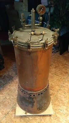 Antique Brass and Bronze Dental Medical Autoclave, Sterilizer, in Amazing shape