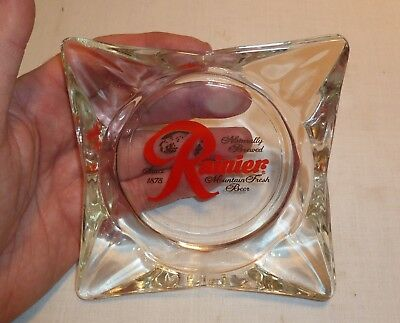 Vintage NOS Rainier Beer Ashtray