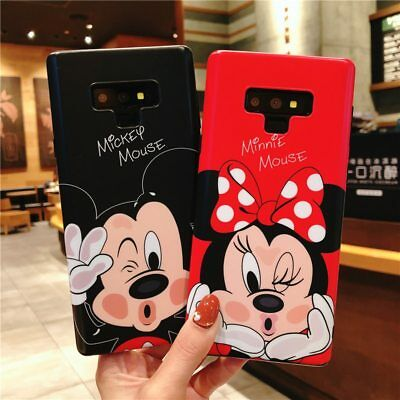 Mickey Minnie Mouse Case Samsung Galaxy S8 S9 Plus Note 8 9 Soft Cartoon Cover