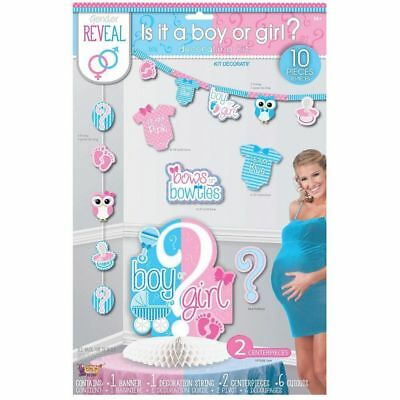 Gender Reveal Decorating Kit - Great for Baby Shower Decorations for Girl or Boy