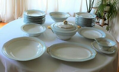 Service De Table Art Deco – 35 Pieces - Porcelaine Limoges
