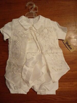 New Infant toddler Boys Christening Baptism Special Gown size 18 mos Yeshua