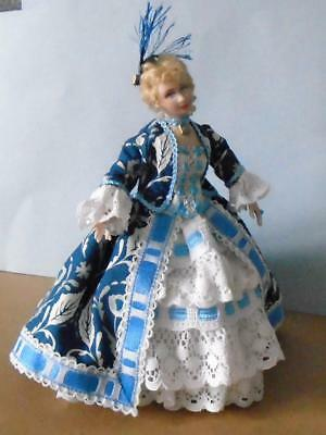 ART DOLL 12th scale LADY Georgian blue outfit HANDMADE