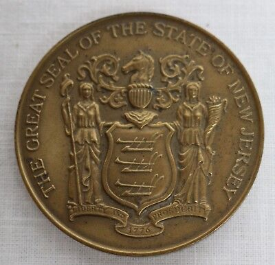 The Great Seal Of New Jersey Bronze Medal