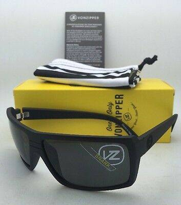 802f9dbe83c1 New VONZIPPER Sunglasses VZ SNARK Matte Black Satin Frames with Grey Lenses