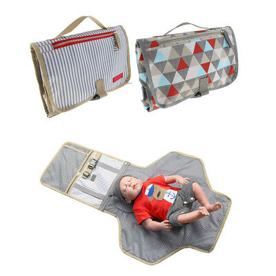 Portable Changing Pad Clutch - Waterproof Baby Diaper Changing Mat