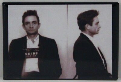 "Johnny Cash Mugshot 2"" X 3"" Fridge / Locker Magnet."
