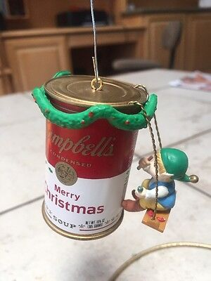 ENESCO CHRISTMAS ORNAMENT: HAVE A SOUP-ER CHRISTMAS! CAMPBELLS SOUP new in box