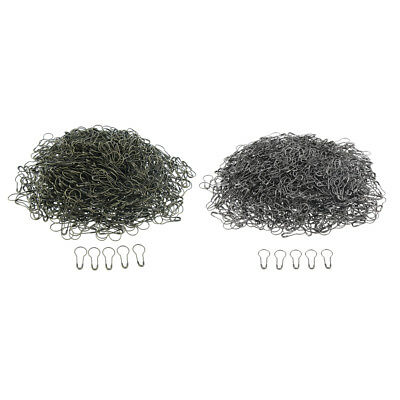 1000x Metal Calabash Shape Safety Pin Pear Gourd Coilless Tag Fastener Pins