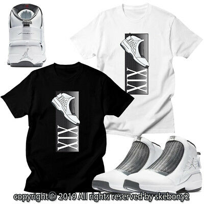 d3c3639333e98f CUSTOM T SHIRT MATCHING STYLE OF Air Jordan 19 Flint 2019 White JD 19 1-