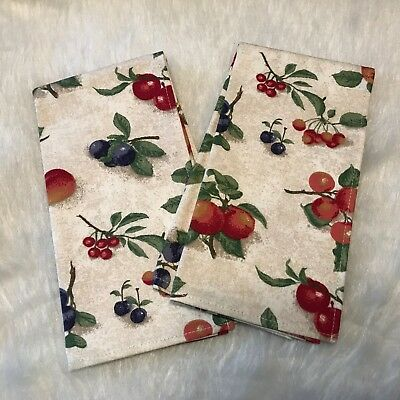Longaberger Fruit Medley Fabric NAPKINS (2) New In Package Never Used