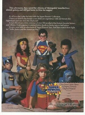 1985 PRINT AD Super Powers Collection Vintage Advertisement