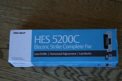 HES 5200C Electric Strike Complete Pac 12-24 VDC ASSA ABLOY Grade 1 NEW