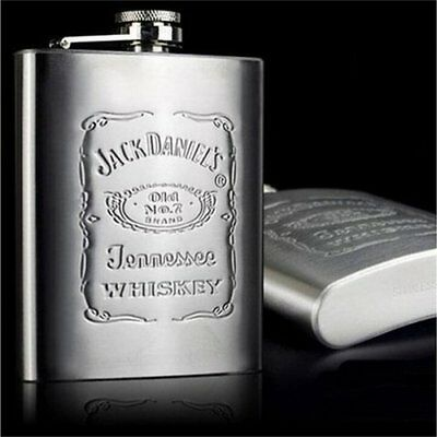 7 oz Jack Daniels stainless steal hip flask shipped from U.S.A.