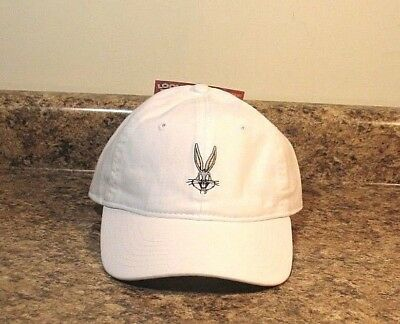 Looney Tunes Bugs Bunny Baseball Cap Adult One Size White NEW