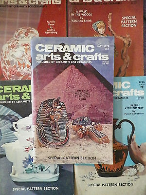1978 Ceramic Arts & Crafts Magazines - 5 Different -A Must Have for the Ceramist