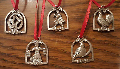 Longaberger Miniature Pewter Ornament 12 Gifts of Christmas Replacement Pieces