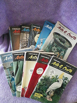 1976 Ceramic Arts & Crafts Magazines -10 Different -A Must Have for the Ceramist