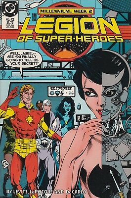 Legion Of Super-heroes #42 (Jan 1988, DC Comics) Mill. Week 2 VF