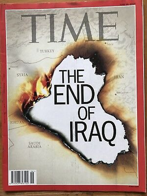 Rare TIME Magazine, THE END OF IRAQ, Harley Davidson, Inuit Canada,June 2014 VGC