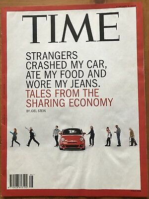 Rare TIME Magazine, 2015 Tales From The Sharing Economy, Saudi Transition, VGC