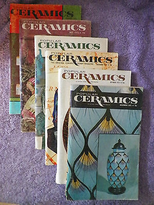 1973 Popular Ceramics Magazines - 6 Different - A Must Have for the Ceramist