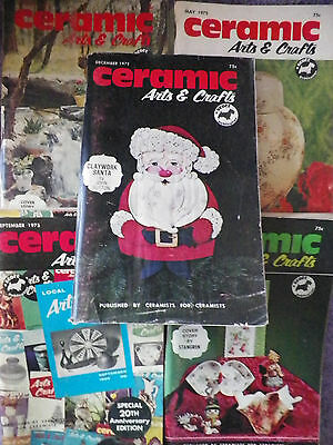 1975 Ceramic Arts & Crafts Magazines - 9 Different -A Must Have for the Ceramist