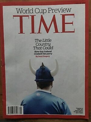 Rare TIME Magazine, 2018 World Cup Preview, Iceland, The Little Country, VGC