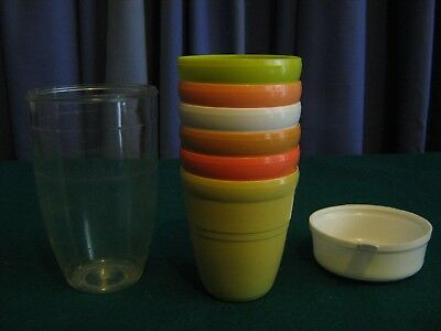 Vintage 1960's Picnic Cups & Storage Container -  Brian Davis & Co