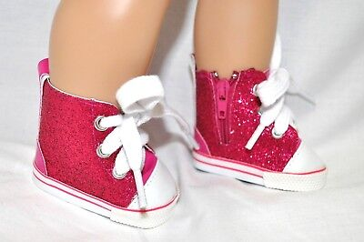 Our Generation American Girl Doll Journey 18 Dolls  Shoes Pink Glitter Gym Boots