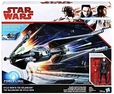Star Wars The Last Jedi Force Link Kylo Ren's Tie Fighter Silencer New In Box