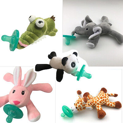 Baby Pacifier Silicone Pacifiers With Plush Toy Giraffe Nipple Soother BPABIUS
