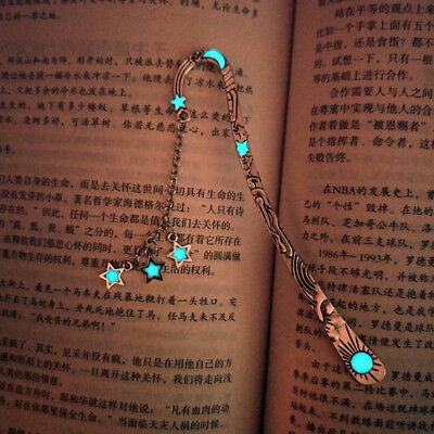 Vintage Five-pointed Star Bookmark Glowing Metallic Bookmark Moon Bookmark ST