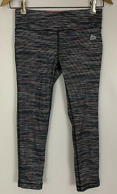 RBX Multicolor Striped Crop Workout Leggings Size Small