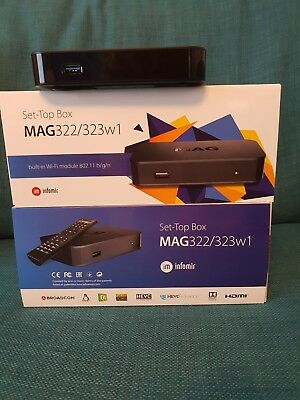 *Mag 322w1 IPTV box with wi-fi and 12 months Premium iptv from a trusted seller.