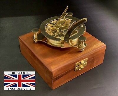 Sundial Compass 4.5 inch Vintage Brass Nautical Marine Compasses Steampunk Style